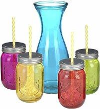 Neu 9 Teile Mehrfarbig Glas Maurer
