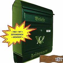 NEU Briefkasten R XXL grün dunkelgrün moosgrün