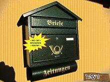 NEU Briefkasten S XXL grün dunkelgrün moosgrün