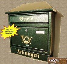NEU Briefkasten W XXL grün dunkelgrün moosgrün