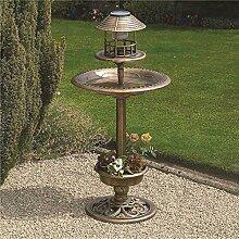 NEU Bronze außen Futterstelle für Vögel Bade