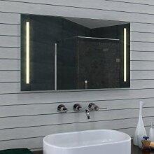 NEU Design Badezimmerspiegel mit LED Beleuchtung in Warm-/Kaltweiß (100x60)