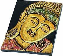 NEU Holz Relief Bild Gold Buddha Budda Deko Bali