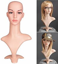 Neu Perückenkopf Dekokopf Schaufensterpuppe Mannequin Wig Kopf Damenkopf