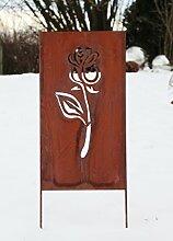NEU Rost Spalier Rose 100cm Gartendeko