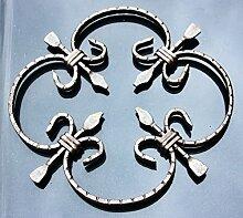 NEU! Schmiedeeisen Ornament Gitter Fenstergitter Stahl Eisen geschmiedet #551