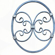 NEU! Schmiedeeisen Ornament Oval Gitter Fenstergitter Stahl Eisen geschmiedet #555