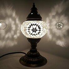 NEU Special - Turkish / Marokkanische Glas Schreibtisch Tisch Lampe 29cm - Tree _W9