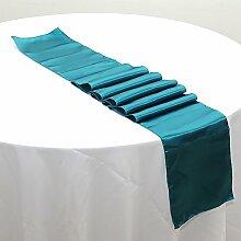 NEU Tischläufer, Bankett Hochzeit Weihnachten Party-Tischdecke mit 16Farben Free Size #19