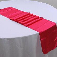 NEU Tischläufer, Bankett Hochzeit Weihnachten Party-Tischdecke mit 16Farben Free Size #15