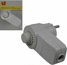 Neu Zwischenstecker weiß mit Dimmer Stecker Lichtdimmer Zwischenschalter Lampe