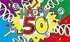 NEUE 152 0.91 METERS HAPPY 50th BIRTHDAY BANNER DEKORATION