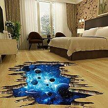 Neue 3d kosmischen raum galaxy boden aufkleber