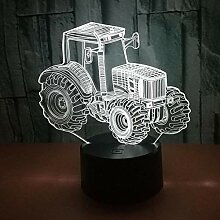 Neue 3D Traktor Auto Illusion LED Nachtlicht 7