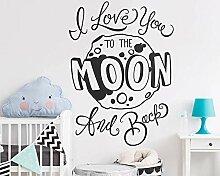 Neue Ankunft Kinderzimmer Wandtattoo - ich liebe