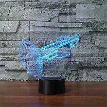 Neue Ankunft Musikinstrumente Trompete 3D-Blitz