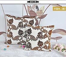 Neue Artikel Sitzkissen Chinesische 3D Kissen Sofakissen Plüsch Bett auf das Paket auto Lendenwirbelstütze Kissen, 40 x 40 cm, Büro Lendenwirbelstütze (Kaffee)