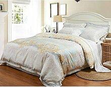 Neue Bettwäsche Bettwäsche Seide vier Sätze von Bettwäsche, Eis Seide glatte nackte Bett Sätze von vier Sätze von Bettwäsche