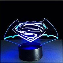 Neue bunte visuelle Stereolampe Superman gegen