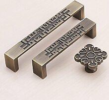 Neue Chinese handle antike Schrank Schrank Schublade Knopf, Single Loch