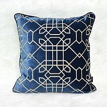Neue Chinesisch-amerikanische moderne Stickerei manuell Blauen Sofa Bett Kissen Kissen Auto schwebenden Fenster Panels auf der Packung, 50 X 50 CM, zwischen -20056 CMBU