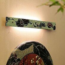 Neue chinesische Toilette Badezimmer Spiegelschrank Kommode Spiegel Vorne Licht Make-up Lampe Schlafzimmer Hotel dekorieren Individualität Wandleuchte, Lotus Spiegel vorne Licht kurz