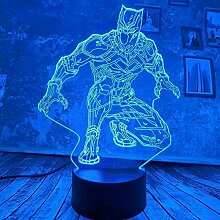Neue coole Marvel Black Panther Touch 3D LED Lampe