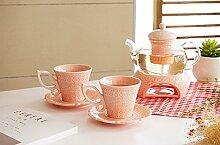 Neue europäische Stil Porzellan und Glas Tee-Set