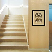Neue fahrrad englisch wandaufkleber gefälschte
