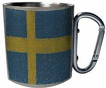 Neue Flagge von Schweden Art Edelstahl Karabiner