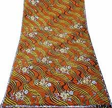 Neue indische frauen saree designer kleid embroide welle muster georgette wrap 5yd
