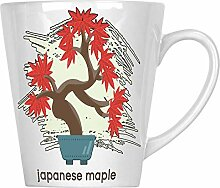 Neue Kiefer-Bonsai 34 cl Latte Tasse l133L