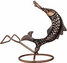 Neue kreative Fisch Weinregal Statue