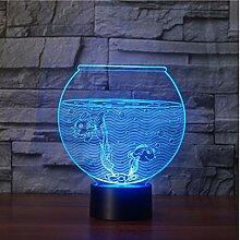 Neue Lebensechte Aquarium 3D Illusion Lampe 2 Sea