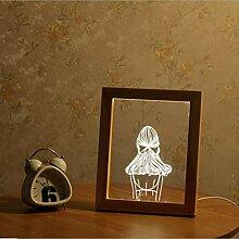 Neue led bilderrahmen licht acryl 3d tischlampe