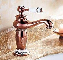 NEUE Luxus Rose Golden Messing Bad Wasserhahn