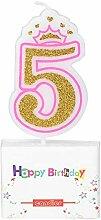 Neue Mädchen Kinder Geburtstag Kerze Party Crown
