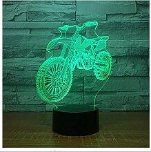 Neue motocross bike form nachtlichter neuheit 3d