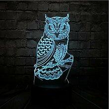 Neue Neuheit Tier 3D Lampe Nachteule Usb Led