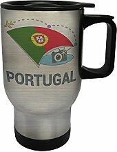 Neue Portugal Foto Reise Edelstahl Thermischer Reisebecher 14oz 400ml Becher Tasse m436ts