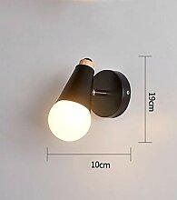 Neue Schlafzimmer-Nachtwandlampe nordischer Gang