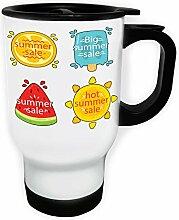 Neue Sommerverkauf Eis Weiß Thermischer Reisebecher 14oz 400ml Becher Tasse h878tw