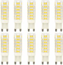 Neue Stil 10 Stück 7 Watt G9 LED Stiftsockellampe