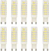 Neue Stil 10 Stück 7Watt G9 LED Stiftsockellampe