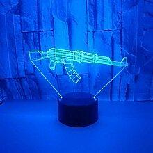 Neue Waffe 3D kleines Nachtlicht USB Power L Touch