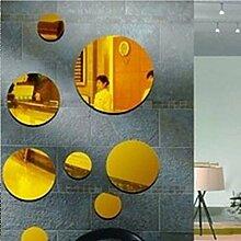 Neue Wandaufkleber Aufkleber Home Decor 2017 diy 3d Acryl Spiegel für moderne, große 9 pis multi-Stück, schwarz