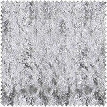 Neue weiche Reichhaltige Plüsch Crushed ideal für Jalousien Kissen Polster Vorhänge Sofas Möbel Samt Silber Farbe–Verkauft Meterware