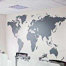 Neue Weltkarte Atlas Wandaufkleber Dekor DIY