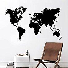 Neue Weltkarte Vinyl Wandaufkleber Abnehmbare