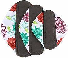 Neue wiederverwendbare Bambus Stoff Waschbar Menstrual Pad Mama Sanitär Handtuch Pad, grün, Middle: 25 * 7cm